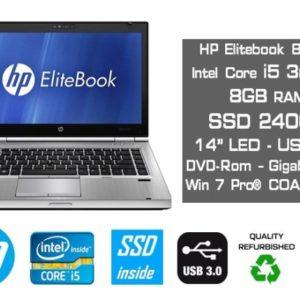 HP 8470p with logos